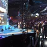 Główna scena, na którą wchodzili zawodnicy przed grami.